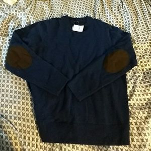 NWT J.Crew factory elbow patche Donegal wool sweat